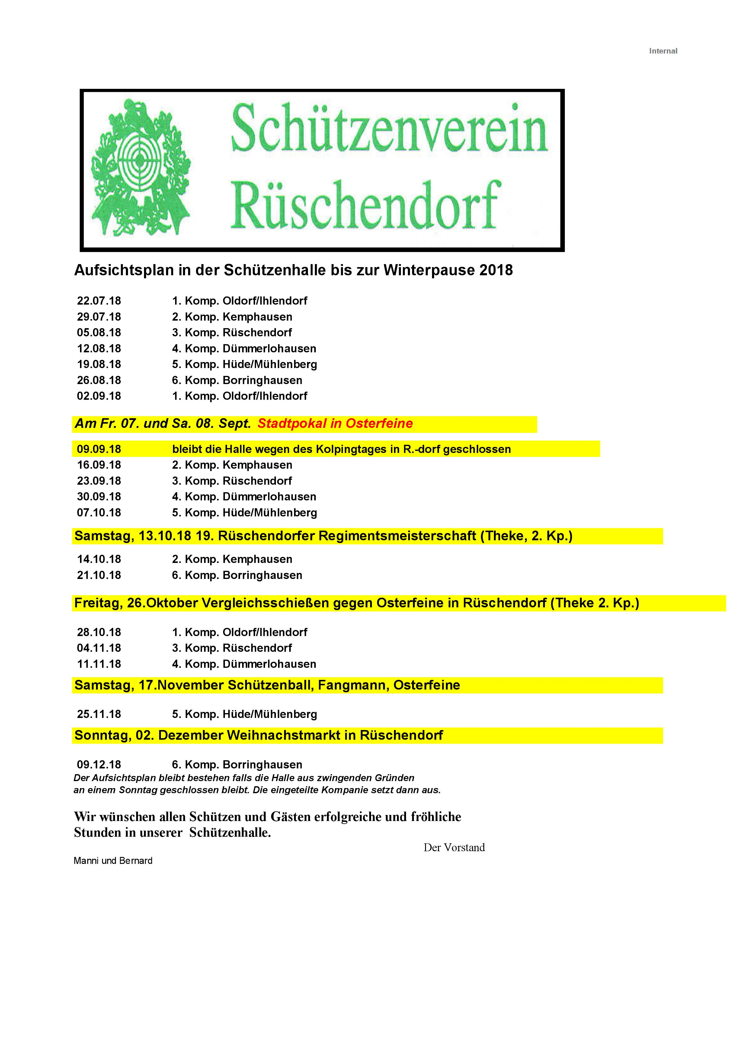 Hallenplan bis Winter 2018